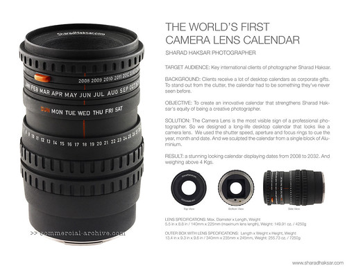 World's First Camera Lens Calendar