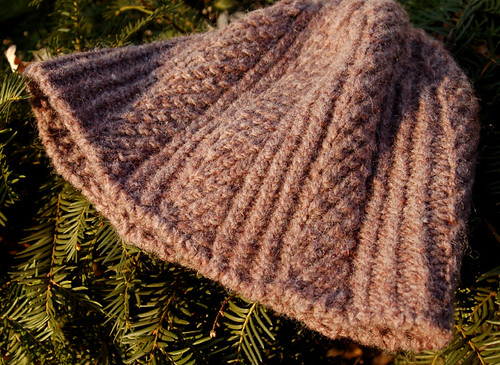 wool hat in herringbone rib stitch-2
