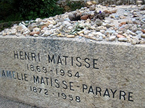 Grave of painter Henri Matisse and his wife Amelie.