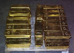Gold Bullion Bar Stack