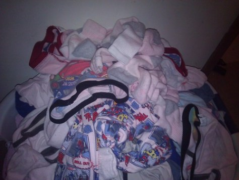 The pink results. Sock, undies, and a few other things