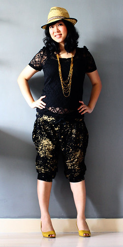 His & Hers Black & Gold Pants