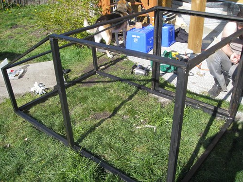 Adding the chicken wire