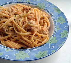 Linguine w/ Crab & Sherry Cream Sauce