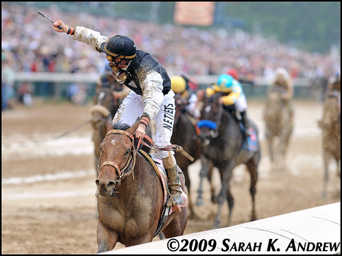 Mine That Bird and Calvin Borel win the 135th Kentucky Derby