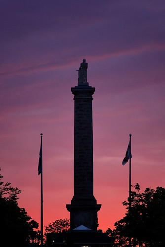Nelson Column at sunset