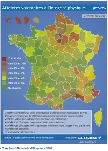 CARTE DE L'INSECURITE en France by you.