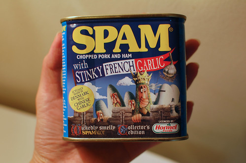 Spam with Stinky French Garlic