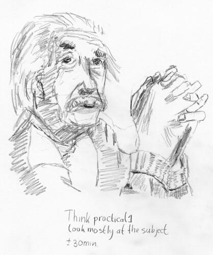 Einstein Sketch 1