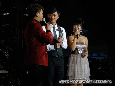 Hong Kong actor/singer, Raymond Lam on stage