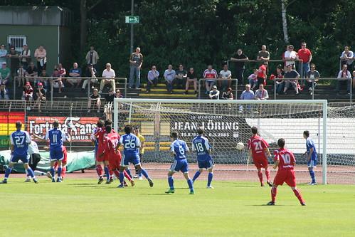 Das 1-0 durch Frank Schroden