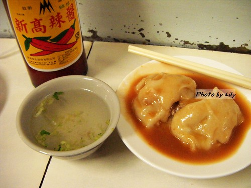 福記肉圓、清湯與新高辣醬