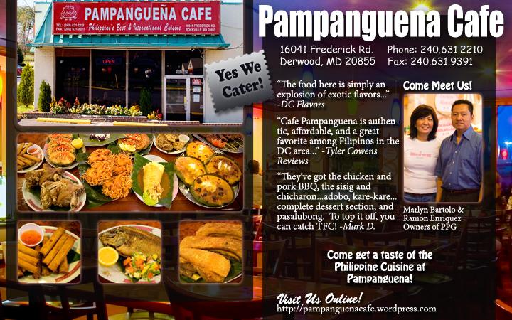 Pampanguena Cafe Filipino Food Philippines Advertisement on Manila Mail