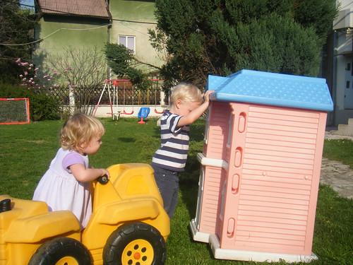 Oliver Demolishes Oceans Doll House