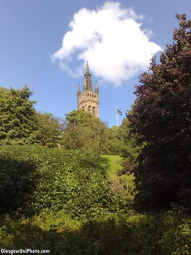 University Tower from Kelvingrove Park