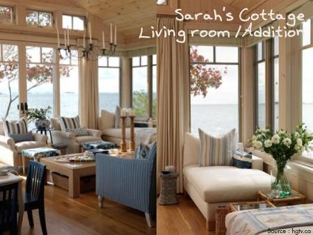 Sarah's cottage living room 1