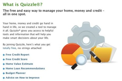 Quizzle Services Free Credit Check