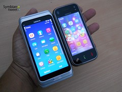 Nokia E7 and N97 Mini via Symbian Tweet's Flickr
