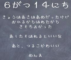 6/14日記(めんまフォント)