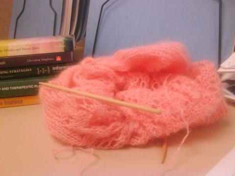 desk knitting