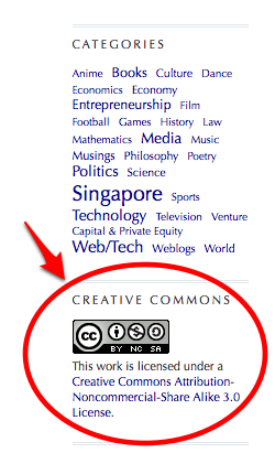 CC-Adopter: Simple is the Reason of My Heart: Singapore should consider Creative Commons