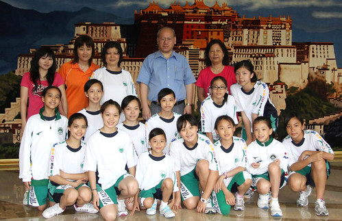 澳門青少年隊與領隊,教練,裁判攝於珠海西藏酒店