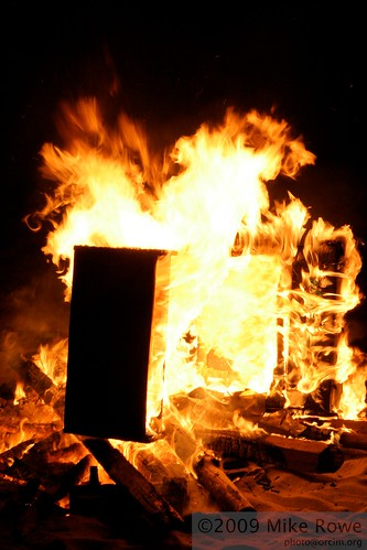 Video Arcade Cabinet, comsumed by fire