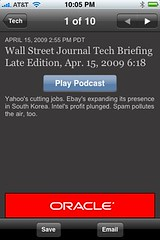 Podcasts in the WSJ app