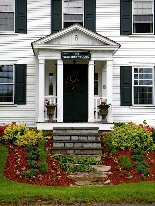 Newcomb Tavern a white antique house in Sandwich MA