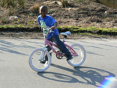 Elizabeth City - Hunter Street- Tykee on Bike