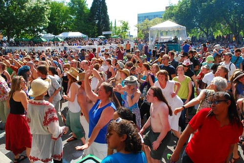 Crowds at the Folklife Festival