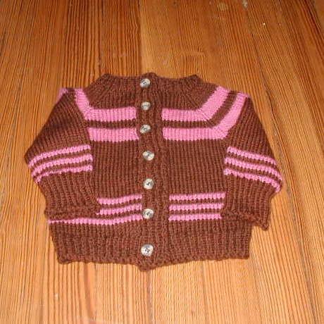 Raspberry & Chocolate Child Sweater