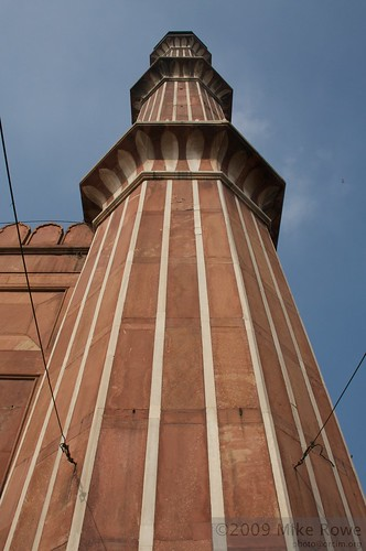 Detail of tower at Jamar Masjid