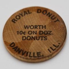 Royal Donut wooden nickel (back)