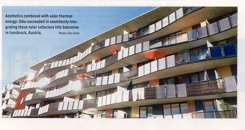 Buena Integracion Arquitectonica en Austria de los paneles térmicos