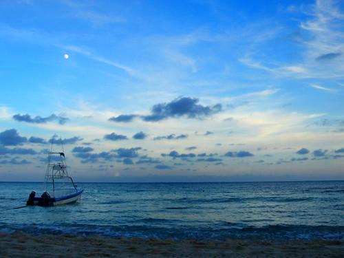 Atardecer Playa del Carmen Quintana Roo Mexico
