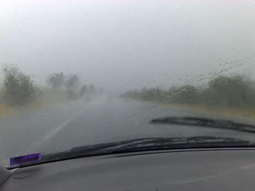 Driving in the hailstorm