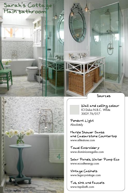 Sarah's Cottage main bath