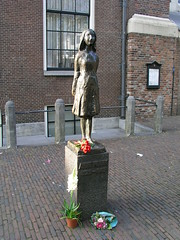 A statue of Anne Frank, Amsterdam