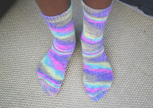 Cheerful socks by JimiKnits