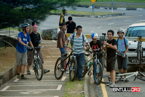 A group of mountain biking enthusiasts in Bintulu who called themselves Ruff Riders Club