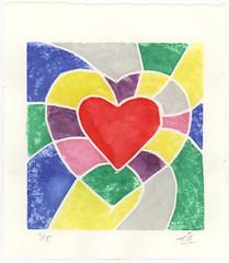 Heart - White Line Print