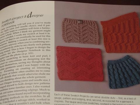 Designing Knitwear: swatch page