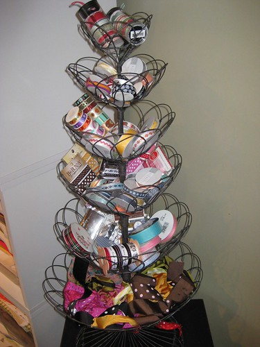 Now I have my very own ribbon display in my craft room! Anyone want to go shopping?