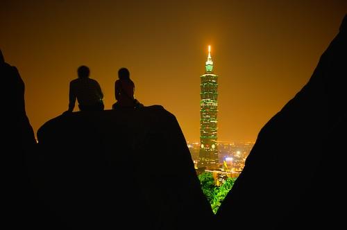 Taipei City and Taipei 101 as seen from Elephant Mountain
