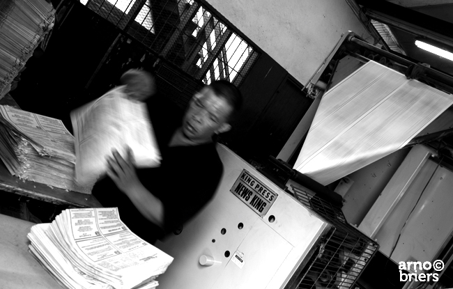 printing the newspaper