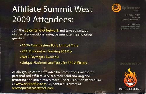 Epicenter Network postcard back