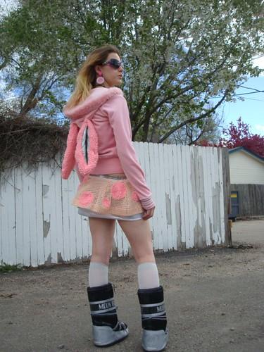 PINKBUNNY hoodie & MONSTERBOT skirt