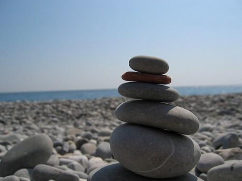 A rock tower I created on the beach in Nice.