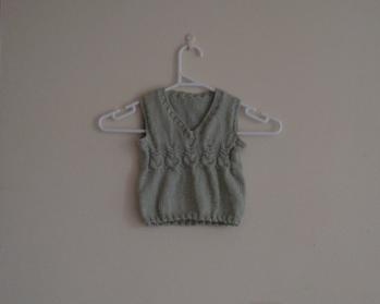 FO - Green Owls Knitted Vest